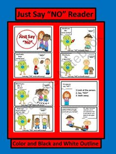 """Red Ribbon Week Just Say """"NO"""" Easy Reader from FunTeach on TeachersNotebook.com -  (8 pages)  - Empower your students to """"Just Say """"NO"""" to drugs."""