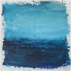 Although abstract in form, my paintings are landscapes – they capture the essence and emotional significance of a place and / or time. Irish Landscape, Abstract Landscape, Landscape Paintings, Art Ideas, Mixed Media, Feels, Ocean, Artists, Crafty