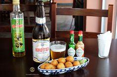 Harmonização: Cerveja Adriática com Bolinho de Bacalhau.
