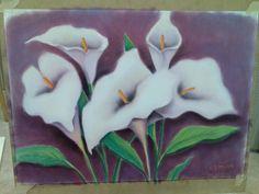 Mi primer cuadro: #Callas ( #Pastel ) | Manualidades de Antha