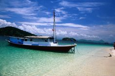Charter ferry moored on one of the small islands off Labuanbajo