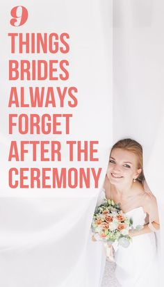 Wedding Day Find out what every bride should do after her wedding ceremony, on SHEfinds. Experts say brides often forget these important post-wedding to-dos. Wedding Planning Tips, Wedding Tips, Wedding Favors, Wedding Ceremony, Wedding Planner, Bridal Tips, Diy Wedding, Wedding Decor, Post Wedding