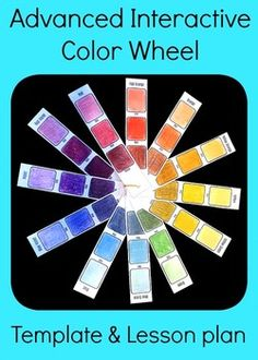 Advanced Interactive Color Wheel Middle High School Art Lesson Plan Template  Instead of a regular color wheel, make an advanced interactive color wheel! This is an excellent tool for helping high school or middle school students understand color and for subsequent projects involving mixing colors and choosing color schemes