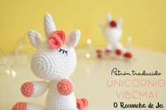 Paso a paso amigurumi Unicornio a crochet (ganchillo) - Crochet Unicorn amigurumi step by step Baby Boy Crochet Blanket, Crochet Baby Hats, Crochet Gifts, Crochet Dolls, Crochet Clothes, Crochet Unicorn Pattern, Crochet Skirt Pattern, Crochet Patterns, Crochet Poncho