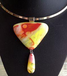"""Amanda's Sunrise"" pendant Fused Glass Art, My Glass, Sunrise, Pendant Necklace, Jewelry, Jewlery, Jewerly, Schmuck, Jewels"