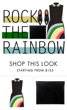 """""""Chasing Rainbows"""" by grandtheftautumn ❤ liked on Polyvore featuring RED Valentino, The Mode Collective, Acne Studios, women's clothing, women's fashion, women, female, woman, misses and juniors"""