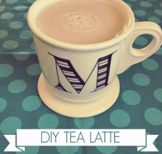Make your own tea lattes at home! I love early grey or cocoa & mint, but you could try any flavor! Use almond milk for vegan :)