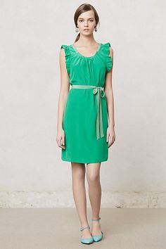 Another bridesmaid dress option, depending on the shade and fit. (Trefoil Flutter Dress #anthropologie)
