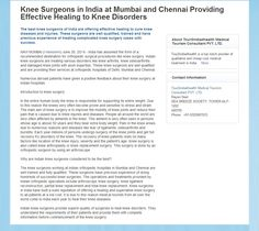 Knee Surgeons in India at Mumbai and Chennai Providing Effective Healing to Knee Disorders