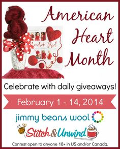 As we celebrate American Heart Month, we're excited to be hosting daily giveaways right here on Stitch & Unwind. Each day, we're giving away one copy of Crochet Red, plus an exclusive yarn bouquet that's used to crochet a project inside the boo