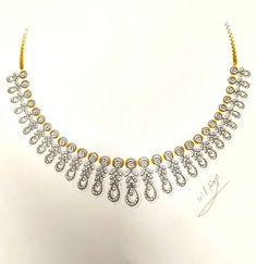 Diamond Choker Necklace, Diamond Jewellery, Jewelry Shop, Fashion Jewelry, Jewelry Design Drawing, Jewelry Illustration, Jewellery Sketches, International Jewelry, Bridal Jewelry Sets