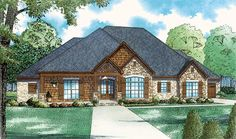 Craftsman European Traditional Elevation of Plan 82356
