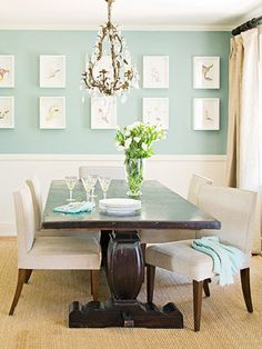 Simple. Chic + Southern: Inspiration: Aqua Dining Room