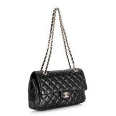 321e233720d1 Replica Chanel 1112 255 Series Black Leather with Silver Hardware Flap bags