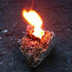 making a pine sap lamp. full tutorial: http://www.coltercousa.com/journal/