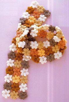 Clube do Crochê: Cachecol Flores (com gráfico)1/2