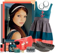 """""""Who knew Teal, Gray, and Coral looked so cute?"""" by allib4sho ❤ liked on Polyvore"""