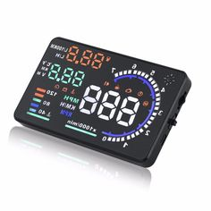 """A8 5.5"""" OBD Car HUD Head Up Display HD Window Reflective Screen Suitable for Projector Speed Fatigue Warning RPM MPH"""