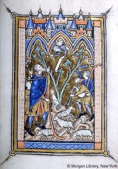 Psalter-Hours, MS M.97 fol. 10v - Images from Medieval and Renaissance Manuscripts - The Morgan Library & Museum