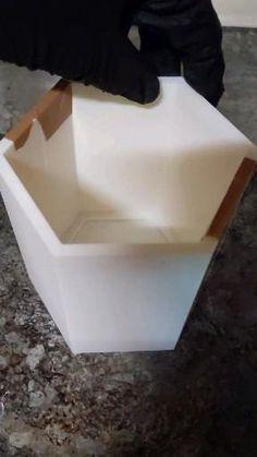 Concrete Sink Molds, Concrete Bowl, Concrete Art, Concrete Crafts, Concrete Projects, Origami Wall Art, Circular Knitting Machine, Concrete Light, Decorative Wall Tiles