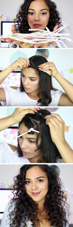 Use Straws to Curl your Hair | 18 DIY Hair Hacks Every Girl Should Know to make you look like a million dollars!