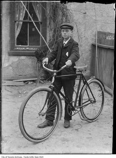 Bill James Jr. and his first Canadian bicycle. – 1907