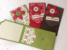 my stampart - Stampin' Up! Umschlag für Gutscheinkarten, Gift Card Box