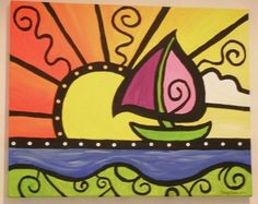sail boat idea – Vehicles is art Painting For Kids, Art For Kids, Sailboat Art, 2nd Grade Art, School Art Projects, Art Lessons Elementary, Arte Pop, Easy Paintings, Art Classroom