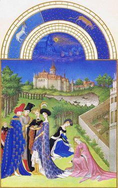 Les très riches heures du duc de Berry, 1410 ~ Ultramarino puro feito do lápis-lazúli ~