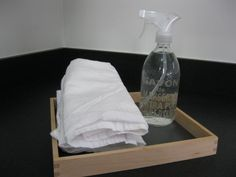 Homemade cleaner, water and white vinegar