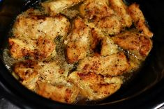 Crock Pot Lemon Chicken: Put a cube of butter in bottom of crock pot. Lay chicken in pot. Sprinkle Italian dressing packet over chicken, drizzle w/ lemon juice.