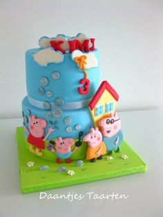 Peppa pig blows bubbles - Cake by Daantje