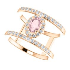 14K Rose Morganite & 1/3 CTW Diamond Ring #MyStullerStyle pg# 314