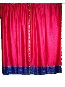Art Silk Sari Curtains, Sari Curtains On Sale, Indian Sari Drapes UK