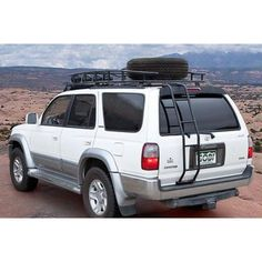 GOBI Toyota Rear Ladder My daughter would love it if I would add this to her 2000 Toyota Surf, Toyota 4x4, Toyota Hilux, 3rd Gen 4runner, Volkswagen Routan, Minivan Camping, Camper Van Conversion Diy, Chevrolet Tahoe, Roof Rack