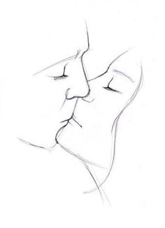 Sie schenkt den Menschen viele positive … Love is the most beautiful thing in the world! It gives people many positive emotions. Look how can you draw the lovers. Pencil Art Drawings, Art Drawings Sketches, Easy Drawings, Art Bloc, You Draw, Drawing Skills, Drawing People, Drawings Of People Kissing, Simple Art