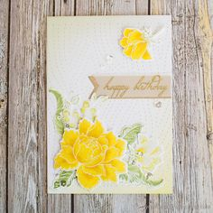 I'm joining in with two competitions with today's card. The Altenew June Inspiration Challenge, and the Seven Hills Crafts June Sketch Challenge. I began by heat embossing in white the …