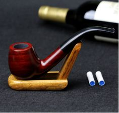 Perfect designer pipe stands to help your smoking pipes relax for a while.