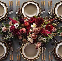 Queen of Hearts Floral Design - London Venue Styling and Floral Decor Decoration Table, Reception Decorations, Deco Floral, Floral Design, Wedding Table Settings, Setting Table, Deco Table, Burgundy Wedding, Wedding Receptions