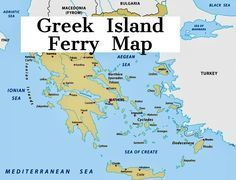 Greece Islands Map Greece Islands Karte Der Griechenlandinseln