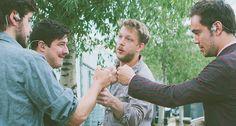 Fist bump. Love this shot :)
