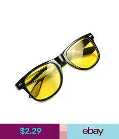 80a4d4669b Men s Sunglasses Pro Driving Hd Night Vision Yellow Lens Sunglasses Driver  Sun Goggles Glasses  ebay  Fashion