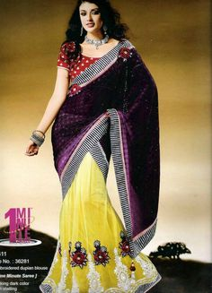 Trendy and comfortable ready to wear saree in designer collection will definetly give you the style statement. This is Wine, Yellow Net, Dupian One Minute Saree with BlouseStriking dark color with statling buttas on skirt. It has Embroidered dupian blouse. The unstitched matching blouse material can be customised as per the requirement limited to availability of material. Available blouse material length is 80 cm. Slight variation in color or patch may be possible due to photography effect.
