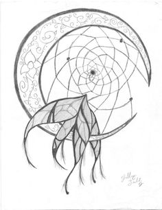 I want to incorporate the crescent moon into the dream catcher and draw it on something!
