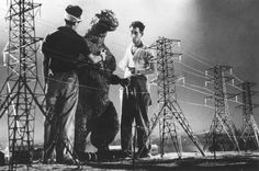 On the set of GOJIRA (released in the United States as GODZILLA, 1954)