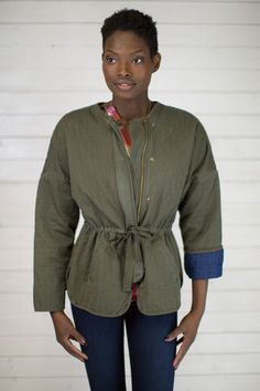 Quilted Bomber Jacket #shopmaude www.shopmaude.com