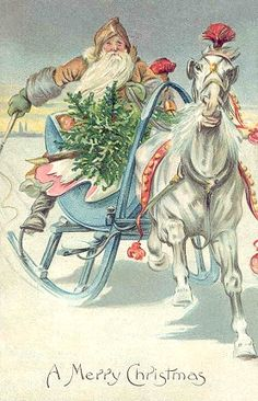 Santa Pulled by a Horse