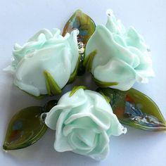 #my365beads2016 #rose #flower #beads #beading #etsy #etsyseller #petrovnalampwork #lampwork