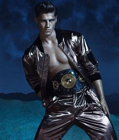 First look of Versace's Spring/Summer 2013 campaign featuring Kate Moss, Daria Werbowy, Joan Smalls, Edward Wilding, Kacey Carring and Veit Couturier photographed by Mert and Marcus.