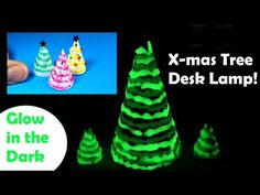 DIY Miniature Christmas Tree Desk Lamp - Glow in the Dark - Holiday Craft How To - YouTube